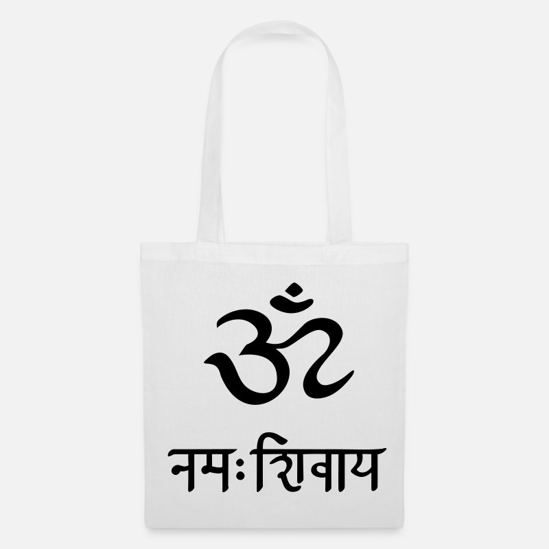Symbol  Bags & Backpacks - Om Namah Shivaya Sanskrit Manttra OM  - Tote Bag white