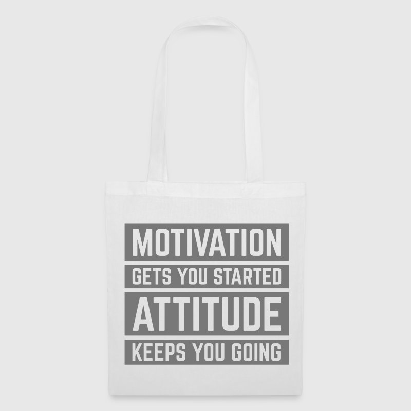 Motivation Gets You Started Gym Quote - Tote Bag