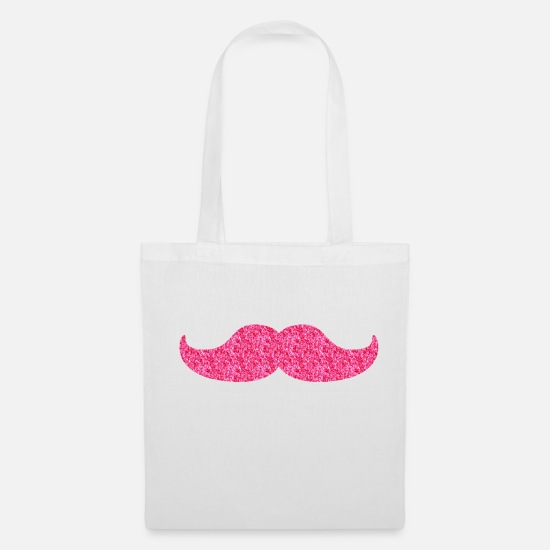 Disco Bags & Backpacks - glittering moustache - Tote Bag white