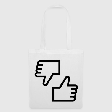 Like! Funny Thumbs, Quirky Thumbs - Tote Bag