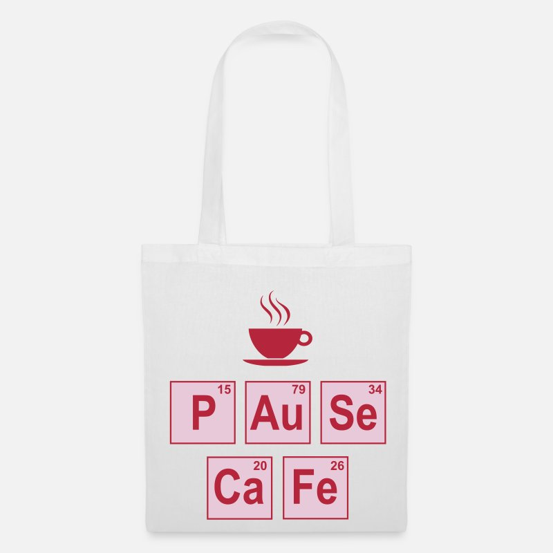 Chimie Chimique Chemist Chemical Quimica Quimico Bags & Backpacks - Pause café - Tote Bag white