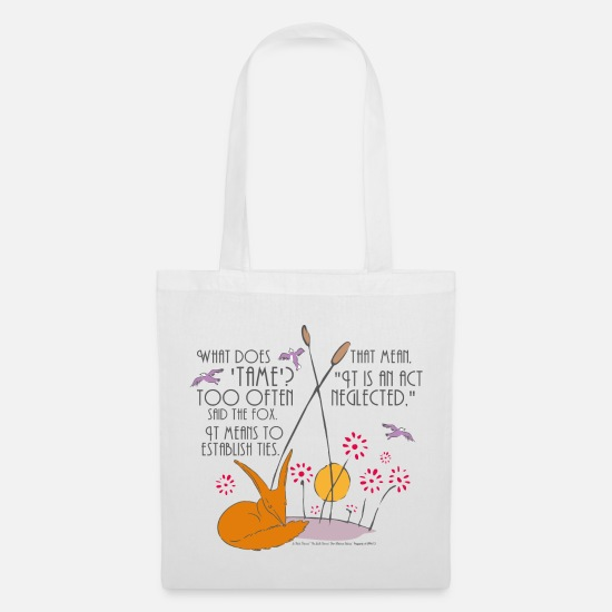 Prince Bags & Backpacks - The Little Prince Friendship Taming The Fox - Tote Bag white