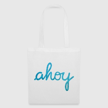 Ahoy Typography waves - Tote Bag