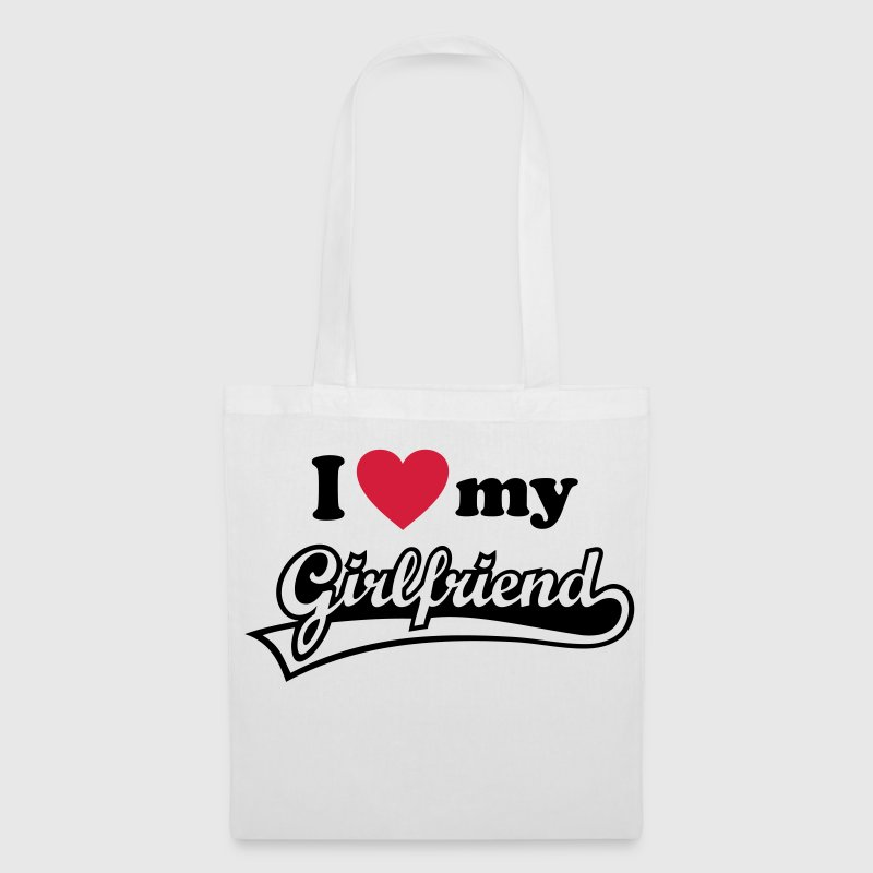 I love my Girlfriend love you u girlfriend wife  - Tote Bag
