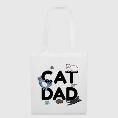 Cat Dad - Cat Cat man Daddy Kitty Meow - Tote Bag