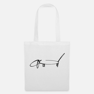 Teckel Teckel dessin au trait Teckel noir - Tote Bag