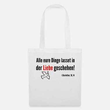 Bible verset de la Bible - Tote Bag
