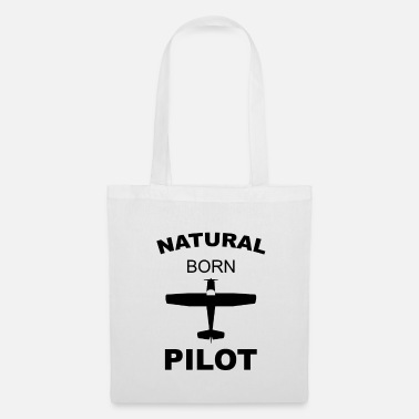 Aéroport flightport avion disant pilote - Tote Bag