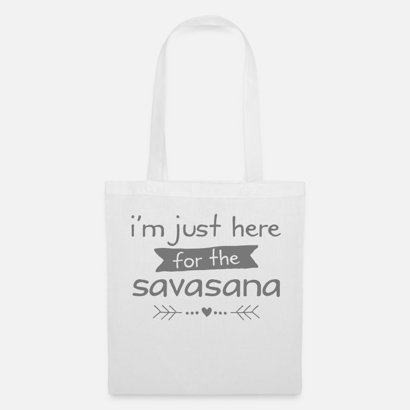 Funny Bags & Backpacks - I'm Just Here For The Savasana - Tote Bag white