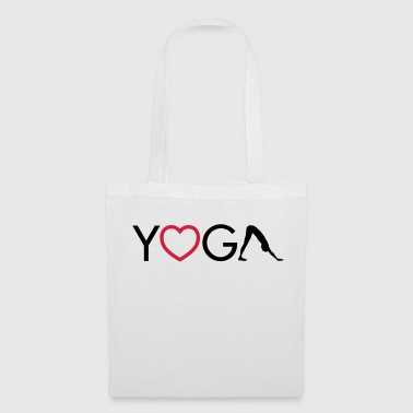 Yoga - Heart - Downward Dog - Tote Bag