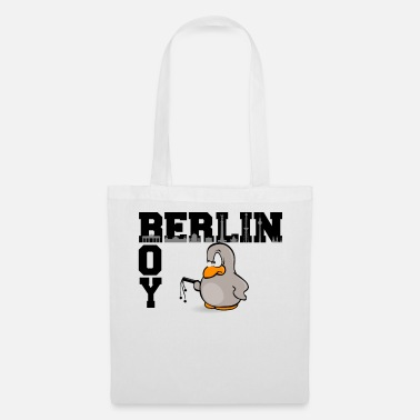 Berlin Bear Berlin BOY the penguin in black design - Tote Bag
