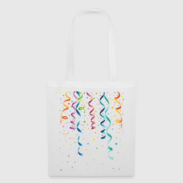 Silvester. Streamers with confetti. Party and Fun. - Tote Bag