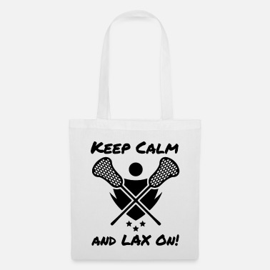 Rat Lacrosse Keep Calm and LAX On Lacrosse Player - Tote Bag