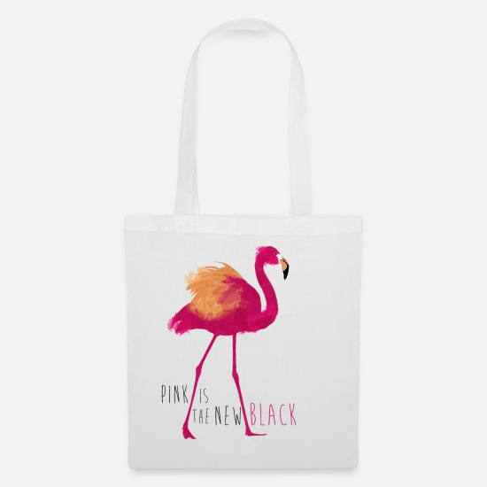 Flamingo Bags & Backpacks - Animal Planet Flamingo Pink Is The New Black - Tote Bag white