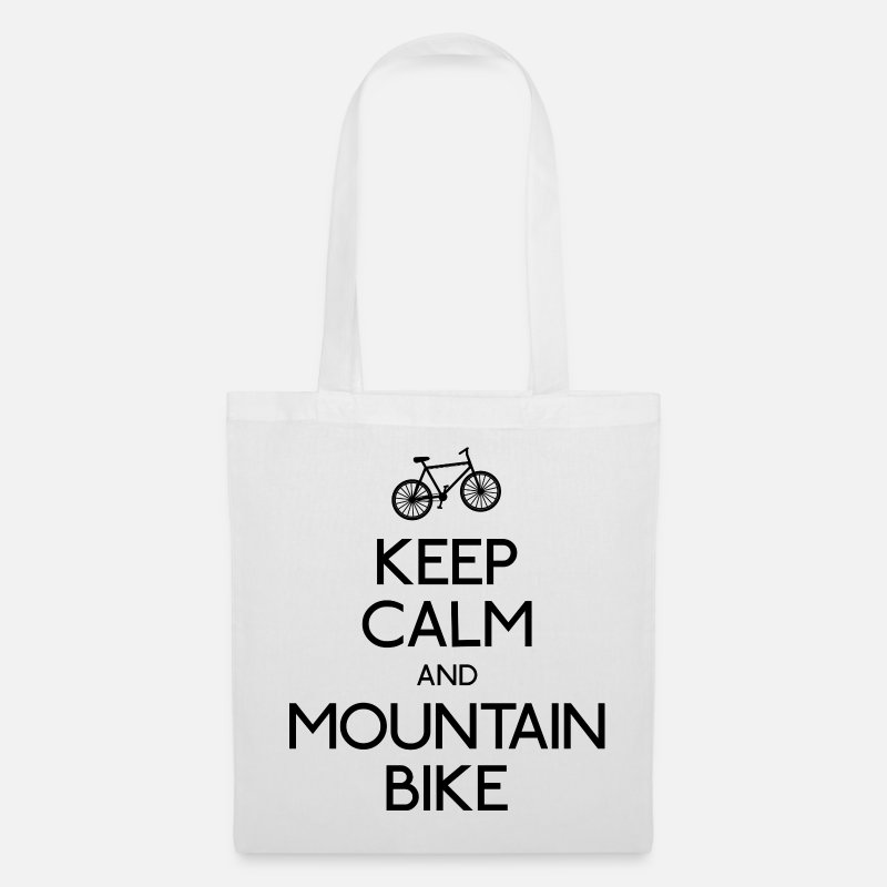 Fiets Tassen & rugzakken - keep calm and mountain bike - Stoffentas wit