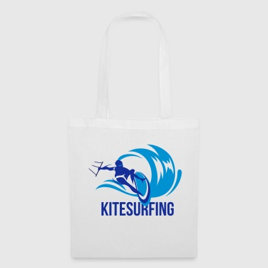 Kitesurfer sur les courses de kiteboard wave - Tote Bag