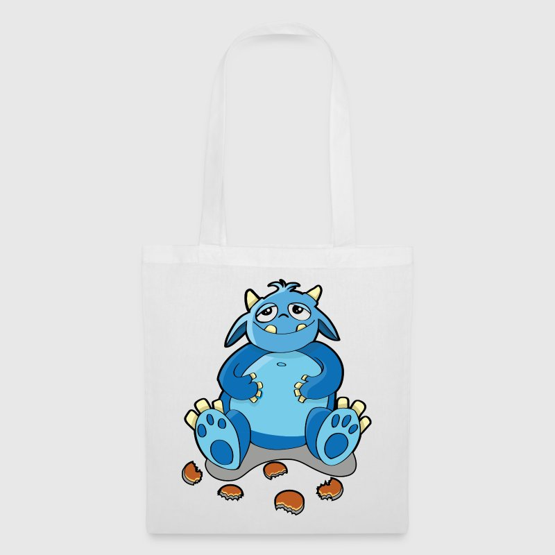 Cookie Monster - la fame, briciole - Borsa di stoffa