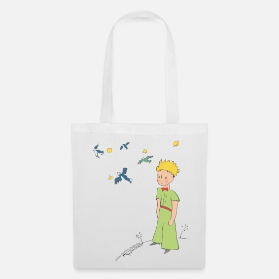 Officialbrands Bags & Backpacks - The Little Prince Travels With Birds - Tote Bag white