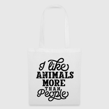 Antisocial I Like Animals Funny animal lovers saying - Tote Bag