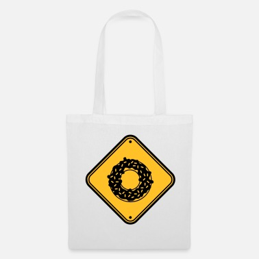 Rond zone attention note danger danger avertissement design - Tote Bag