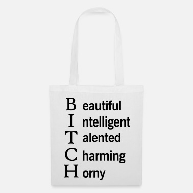 Cubes Bitch Beautiful Intelligent Talented Graphic - Borsa di stoffa