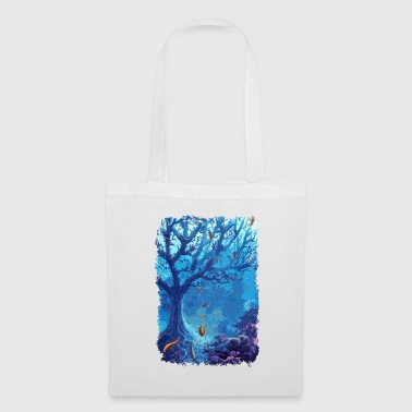 underwater aquarium sea fish lake coral - Tote Bag