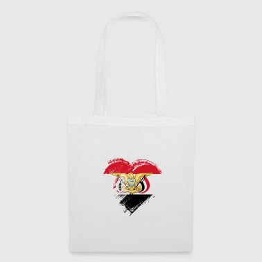 Patriot Grungy I Love Yemen Heart Flag - Tote Bag
