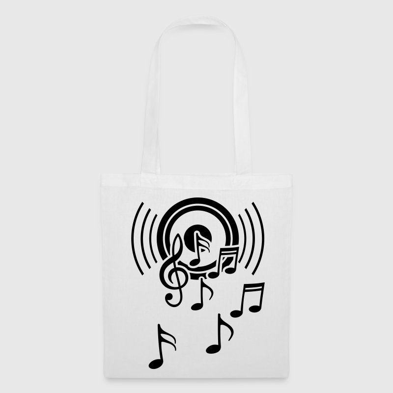 happy music  sound waves - Tote Bag
