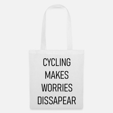 Racing Car Cycling makes worries disappear - Tote Bag