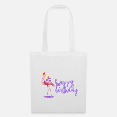 Happy Birthday Happy birthday flamingo - Bolsa de tela