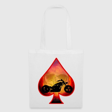 Ace-of-spades Ace Of Spades Biker Skull - Tote Bag