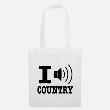Country I music country / I love country - Borsa di stoffa