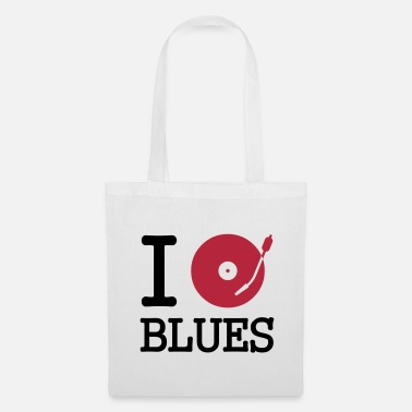 Música I dj / play / listen to blues - Bolsa de tela