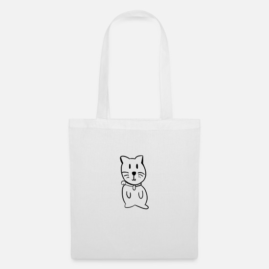 Cat Bags & Backpacks - Fat Cat - Tote Bag white