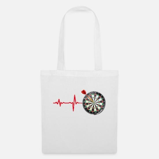 Birthday Bags & Backpacks - Gift heartbeat darts - Tote Bag white