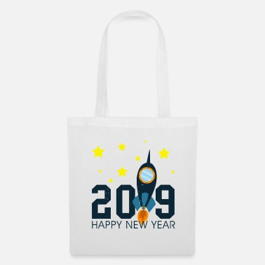 Knorretje To The Moon Rocket Happy New Year 2019 geschenk - Tas van stof