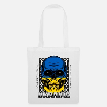 Ukraine Ukrainian skull Kiev national colors gift - Tote Bag