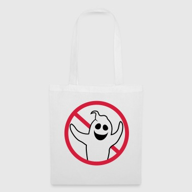 sign symbol forbidden sign ghost ghost laughing - Tote Bag