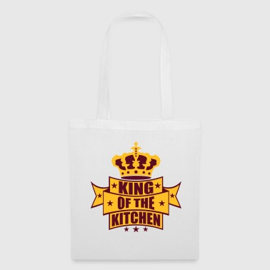 crest crown king of the kitchen king banner tex - Tote Bag