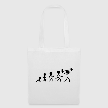 Weight lifting stick figure dumbbell gift fitness - Tote Bag