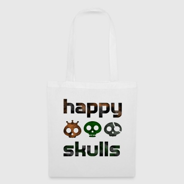 happy skulls - Stoffbeutel