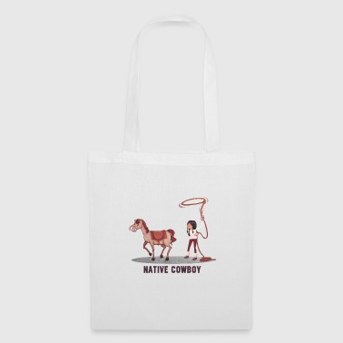 Cowboy and Indian - Tote Bag