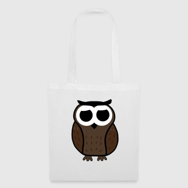 Owl Brown Illustration Gift - Tas van stof
