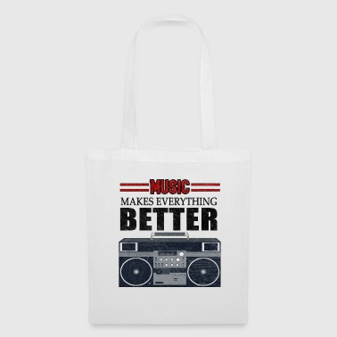 Music Boombox Musical Instrument Hip Hop Rap Gift - Tote Bag