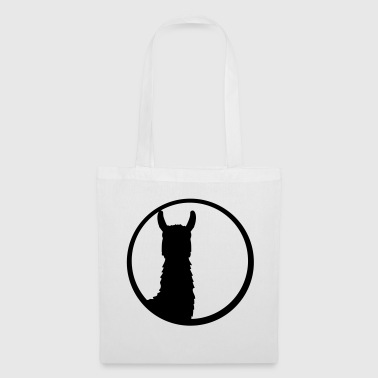black button logo round circle silhouette outline l - Tote Bag