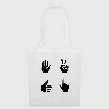 Pictogramme de signe de main - Tote Bag