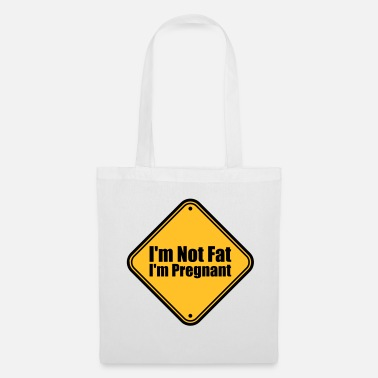 Rond bouclier note attention prudence danger je suis pas gros - Tote Bag