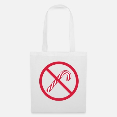 Traffic prohibited zone no sign sign candy cane le - Tote Bag