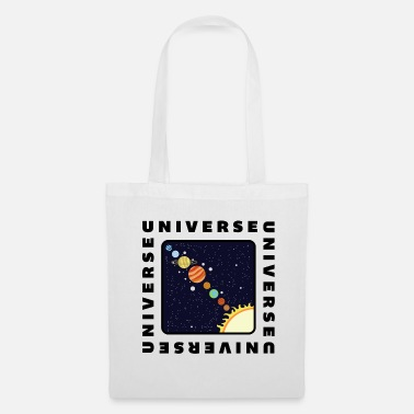 Explorateur Univers Planet Planet Solar System Noir Cool - Tote Bag