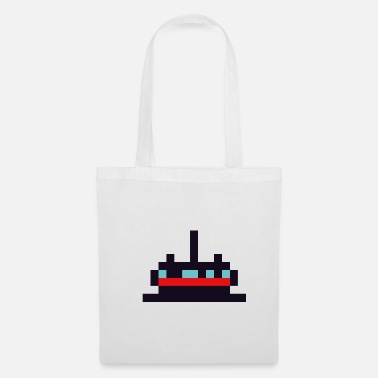Pixel Pixel Art Temple - Tote Bag
